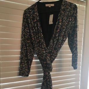 NWT Loft Wrap Dress Floral Size Large